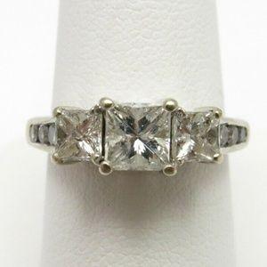 Pristine 14k WG 1.33 CT Princess Cut Diamond Ring